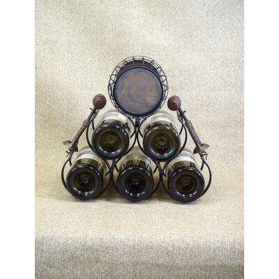 Karen Didion Originals Classic Home 5 Bottle Tabletop Wine Rack