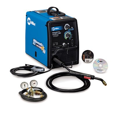 Miller Electric Mfg Co 211 MIG Welder 115/230 Volt, 1 Phase, 60 Hz With Auto-Set™, MVP™ Plugs And M-10 MIG Gun With 10' Cable