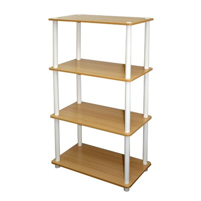 Furinno 4 Tier Rack Bookshelf Bookcase Display Storage Cabinet