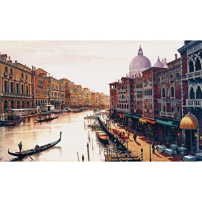 "Trademark Global Canal of Venice by Hava, Canvas Art - 47"" x 24"""