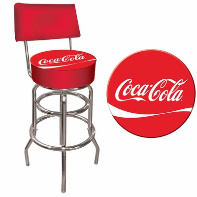 Trademark Global Coca Cola Pub Stool with Back