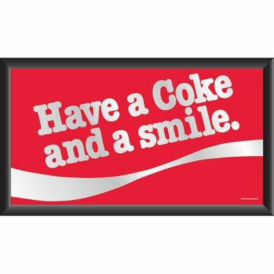 Trademark Global Coca Cola Mirror with Have a Coke and a Smile Design