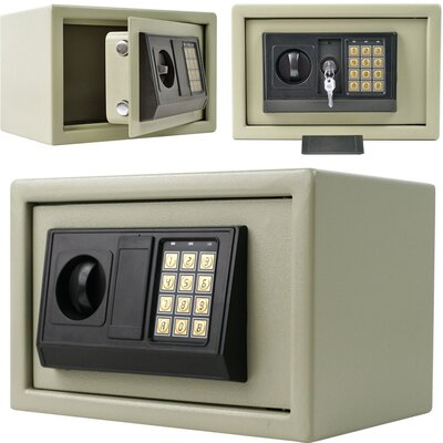 Trademark Global Dial Lock Electronic Digital Security Home Safe