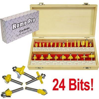 Trademark Global 24 Piece Multi-Purpose Router Bit Set