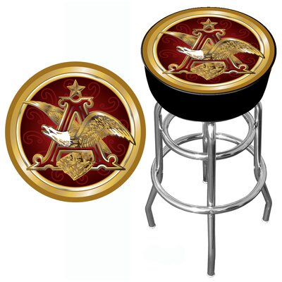 Trademark Global Budweiser A and Eagle Padded Bar Stool