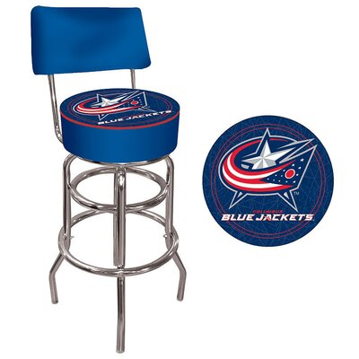 Trademark Global NHL Padded Bar Stool with Back