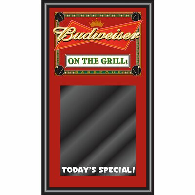Trademark Global Budweiser BBQ Write on Menu Chalk Board - On the Grill