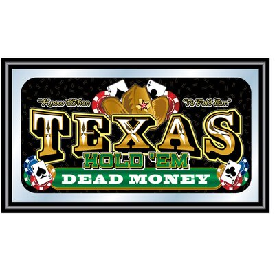 Trademark Global Texas Hold'em Framed Poker Mirror - Dead Money