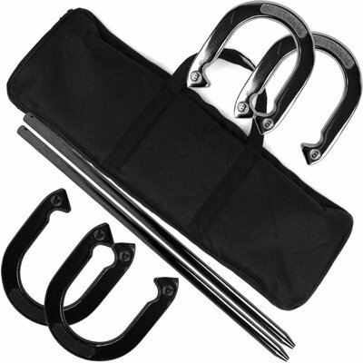 Trademark Global Professional Horseshoe Game Set Heavy Duty