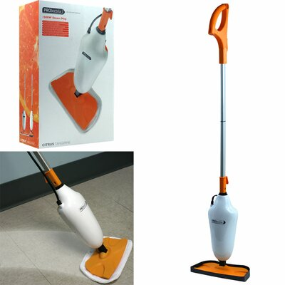 Trademark Global PROlectrix 1500W Steam Mop with Microfiber Pads