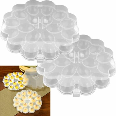 Deviled Egg Tray with Snap On Lid (Set of 2)