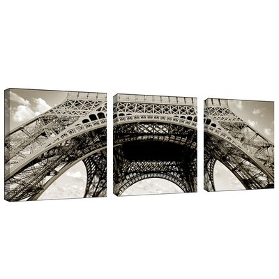 "Trademark Global Tour de Eifel by Preston, Canvas Art - 18"" x 18"" (Set of 3)"