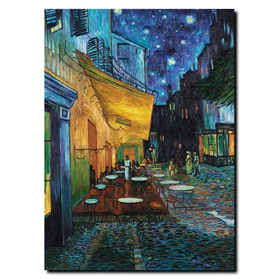 "Trademark Global Cafe Terrace by Vincent Van Gogh, Canvas Art - 19"" x 14"""
