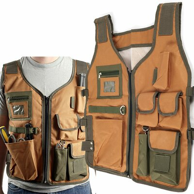 Trademark Global Nylon 7 Pocket Vest with 4 Adjustable Straps