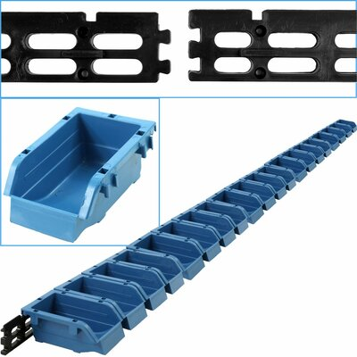 20 Bin Wall Mounted Parts Rack
