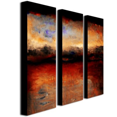 Red Skies at Night by Michelle Calkins Canvas Art (Set of 3)