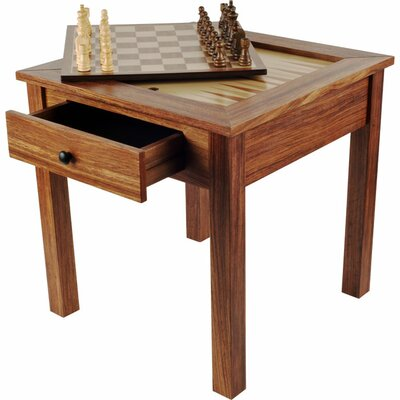 Trademark Global Wood 3 in 1 Chess Backgammon Table by Trademark Games