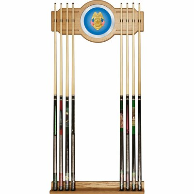Trademark Global Police Officer Billiard Cue Rack with Mirror