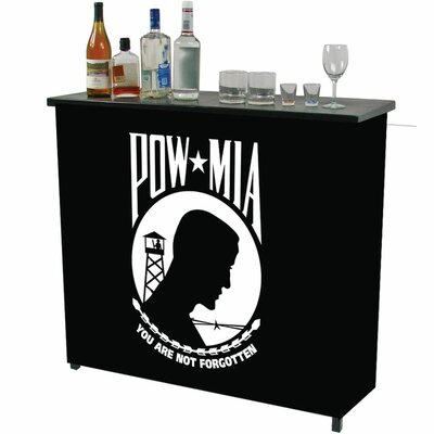 Trademark Global Pow Metal 2 Shelf Portable Bar Table Carrying Case