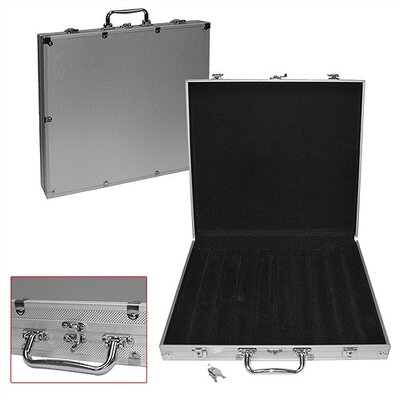 Trademark Global 1000 Capacity Poker Chip Case with Hard Aluminum Side