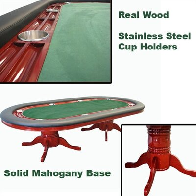 "Trademark Global 96"" Deluxe Mahogany Texas Hold'em Table"