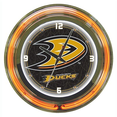 "Trademark Global NHL 14"" Neon Clock"