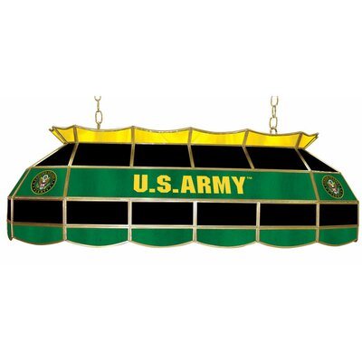 Trademark Global U.S. Army 3 Light Tiffany Billiard Light