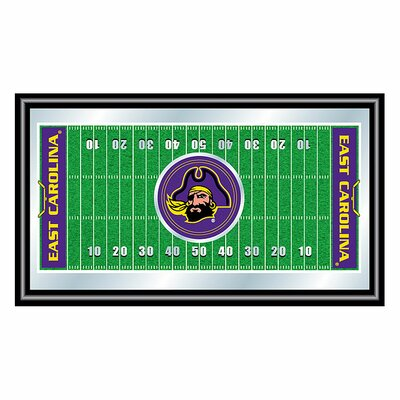 Trademark Global East Carolina University Framed Football Field Mirror