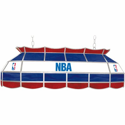 Trademark Global NBA 3 Light Tiffany Style Lamp