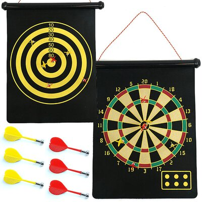 Trademark Global Magnetic Roll-up Dart Board and Bullseye Game with Darts