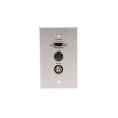 Comprehensive Wallplate with HD15, S-Video, and RCA Connectors
