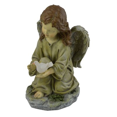 Moonrays Angel with Dove Statue
