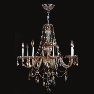 Provence 8 Light Crystal Chandelier