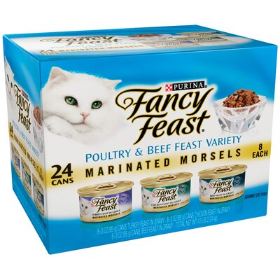 Fancy Feast Marinated Morsels Variety Wet Cat Food (3-oz can,case of 24)