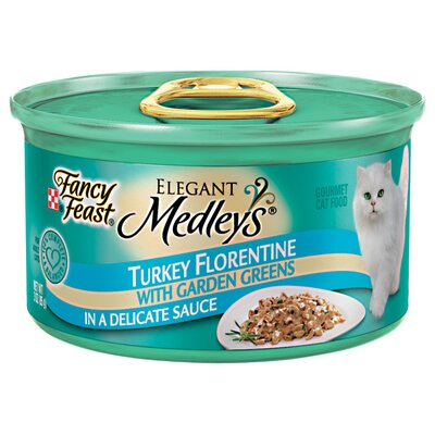 Fancy Feast Elegant Medley Turkey Florentine Cat Food (Case of 24)