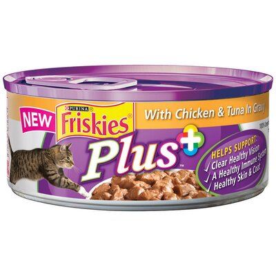 Plus with Chicken and Tuna in Gravy Wet Cat Food (5.5-oz can, case of 24) ...