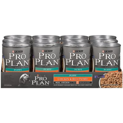 Pro Plan Puppy Chicken and Rice Entrée Dog Food (13-oz, case of 12)