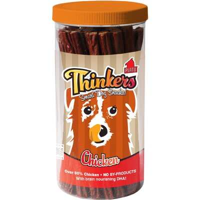 Plato Pet Products Thinkers Chicken Sticks Dog Treats