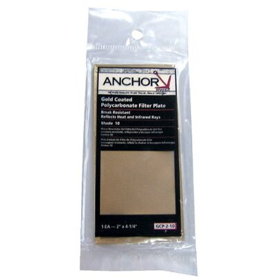 Anchor Gold Coated Polycarbonate Filter Plates - 4-1/2x5-1/4 #9 gcpoly filter plate