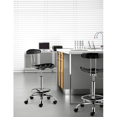 dCOR design Mid-Back Height Adjustable Drafters Office Chair