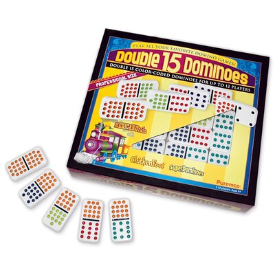 Professional Colored Dots Double 15 Domino Game