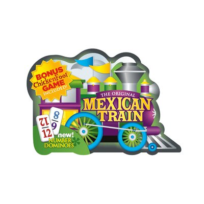 Mexican Train Deluxe Double 12 Domino Game with Numbers