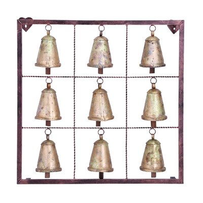 Woodland Imports Square Bell Wall Plaque