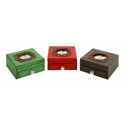 Woodland Imports Picture Frame Jewelry Box (Set of 3)