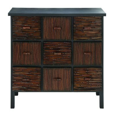 Woodland Imports 9 Drawer Cabinet