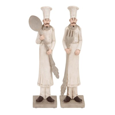 Woodland Imports Polystone Chef Figurine (Set of 2)