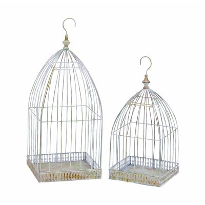 Woodland Imports Victorian Bird Cage (Set of 2)