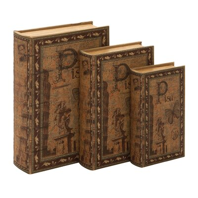 Woodland Imports Library Wood Storage Book (Set of 3)