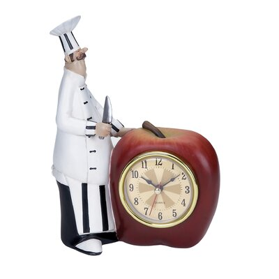 Polystone Chef Table Clock
