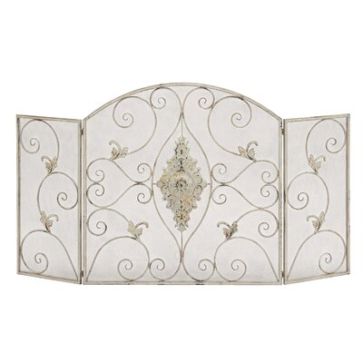 Metal 3 Panel Fireplace Screen
